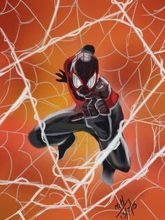Miles Morales Spiderman by mcharrison38214.deviantart.com on @DeviantArt Miles Morales Spiderman, Itsy Bitsy Spider, Wallpaper Art, Amazing Drawings, Amazing Spiderman, Spider Verse, Comic Art, Coloring Books, Alternative