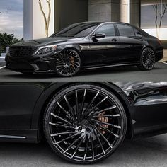 Black on Black S63 on @lexani wheels  Tag a friend who would like this  #Lexani #mercedes #CustomWheels #ForgedWheels #amg #mercedesbenz…
