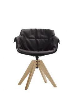 ecomamdf035-flow-slim-chair-sedia-mdf-italia-jean-marie-massaud-arredo-forniture-design-quattro-four-gambe-legs-vn-rovere-oak-sbiancato-bleached-seduta-seat-policarbonato-nero-black-imbottito-padded-xl