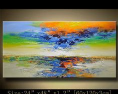 Abstract Wall Painting expressionism Textured por xiangwuchen