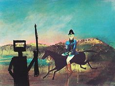 Sidney Nolan. Really love his Ned Kelly series.
