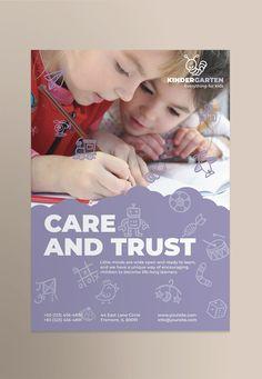 Kindergarten Poster Template AI, EPS, INDD, PSD