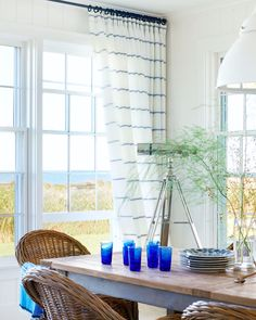 Nautical stripes create a look that's seriously coastal chic. Get the look at theshadestore.com. Material designed by Victoria Hagan. My Collection, Designer Collection, Victoria Hagan, Nautical Stripes, Material Design, Design Consultant, Drapery, Window Treatments, Blinds