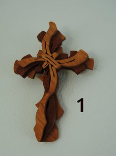 Scroll Saw Cross, Wood Wall Cross, Wooden Cross, Handmade Cross, Christian…