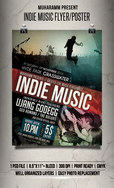 Acoustic Music Flyer  Poster Vol  Music Flyer Font Logo And