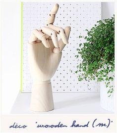 * Wooden hand