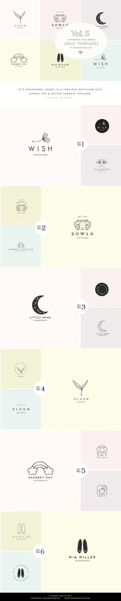 Feminine Premade Logo Bundle Vol. 5 by Maggie Molloy on @creativemarket