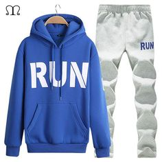 Men's Tracksuit- Warm Sportswear Set_ New Arrival Cardigan Printed Track Suits