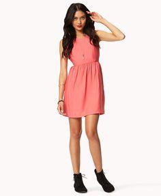 Essential Knee Length Dress | FOREVER21 - 2019263704