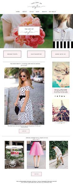 Blog design for The Art of Style    Deluxemodern