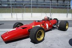 Chris Amon re-united with his Tasman Series V6 Ferrari racer.