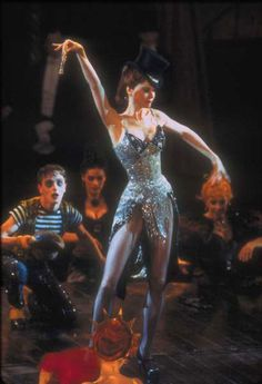 Moulin Rouge!, 2001  Costume design: Catherine Martin & Angus Strathie  Black Diamonds outfit with beaded fishscale patterned bodice worn by Nicole Kidman in the role of Satine