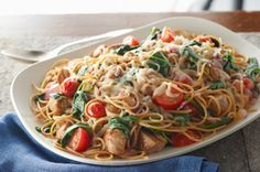 Smart Pork-Pasta Toss recipe- to make this even lower fat and calories eliminate the cheese  the balsamic and garlic has tons of flavor!