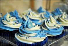 Blue Velvet Cupcakes with Cream Cheese Frosting | Rolling Sin...Sweets After Dark