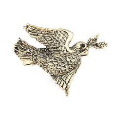 Peace Dove Vintage Double Finger Ring