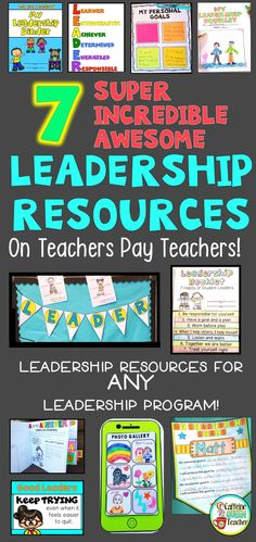 Leader in Me resources for students all available on Teachers Pay Teacher separately or together as a growing bundle!