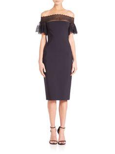 La Petite Robe di Chiara Boni - Ruffled Lace-Sleeve Dress