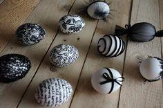 Černá velikonoční vajíčka - Nechte se inspirovat dalšími velikonočními vajíčky. Tyto, v černých barvách, byli ozdobeny různými technikami.  ( DIY, Hobby, Crafts, Homemade, Handmade, Creative, Ideas)