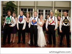 Superhero groomsmen!