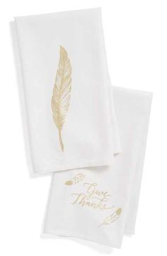 Levtex 'Give Thanks' Dish Towels (Set of 2)