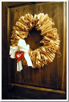 "Easter Wreath - hang a Cross from a bow?  Summer - hang an ""M""."