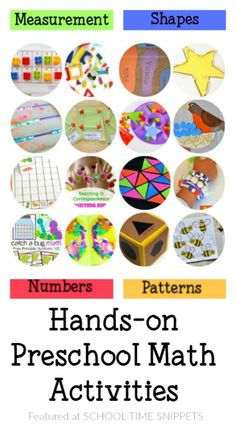 25+ Preschool Math Activities!  So many wonderful ideas to get your child ready for kindergarten!
