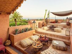 34 Beautiful Morrocan Patio Design Ideas - Usually, patio styles are designed around the existing house and also the terrain. Consideration should be given to other outdoor living areas surroun. Terrarium Diy, Moroccan Design, Moroccan Style, Patio Design, Garden Design, Riads In Marrakech, Moroccan Garden, Persian Garden, Muslim Culture