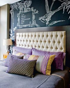 25 Amazing Chalkboard Wall Paint Ideas and adorable bedding