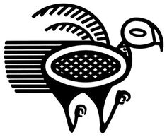 Bird Pre Columbian Design - Argentine - IIlustration - Art to Print - Home Decor - MInimal - Illustration - Bird - Arte Tribal, Tribal Art, Stone Age Art, Turkey Images, Foto Gif, Whale Tattoos, Hungarian Embroidery, Africa Art, Aboriginal Art