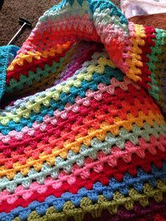 Granny stripe blanket under way