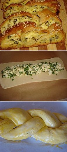 Banka tarifleri | peynir ve otlar ile puf böreği örgü