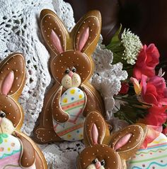 Barely chocolate bunny with Easter egg, by Teri Pringle Wood