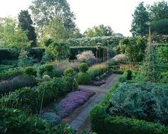 Potager (ornamental vegetable/kitchen garden) - Rosemary Verey, Old Rectory, Sudborough
