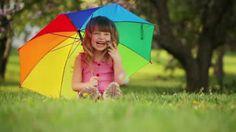 Umbrella rainbow girl