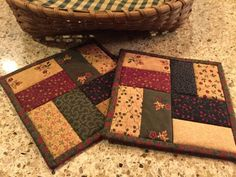 Quilted Potholders / Hot Pads / Item #1155                                                                                                                                                      More: