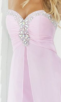 A-Line Chiffon Strapless Long Dress Charm87860