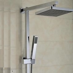 Elegant Shower Faucet with 8 inch Shower head + Hand Shower – USD $ 189.99