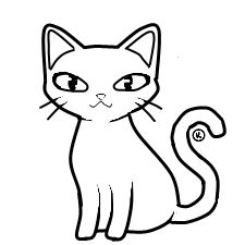 white cat clip art kitty cat line art for coloring i love all rh pinterest com dog and cat black and white clip art black and white cat clip art images
