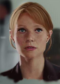 A Painting of Pepper Potts from Iron Man by jht888