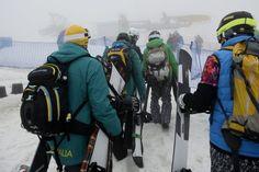 Suspendida por mal tiempo la prueba de boardercross de snowboard #Sochi2014