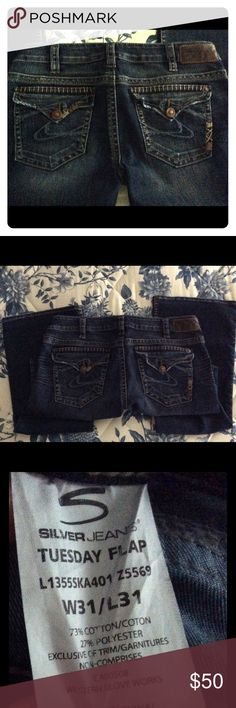 Silver Jeans Tuesday Flap style size 24/33 NWT | Jean jean, Silver ...