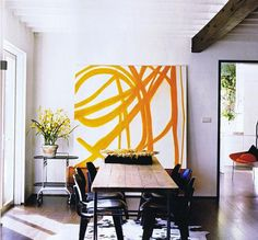 i like large scale, square abstract wall art.