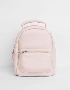 Bershka Mexico - Minimochila Backpack For Teens, Small Backpack, Mini Backpack, Trendy Backpacks, Kids Backpacks, School Backpacks, Pink Accessories, Cute Bags, Fashion Bags