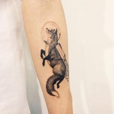 : Fox . #tattoo #tattoos #tattooing #art #tattooistdoy #inkedwall #design #drawing #타투 #타투이스트도이 #SwashRotary #dynamic #intenz #silverback #BellLiner #BellNiddle #TattooSupplyBell #fox #littleprince