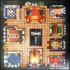 clue board cluedo game board