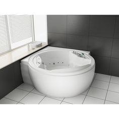 Baignoire Ronde d'angle - Optez pour le design de la baignoire balnéo ilot 2 places- cosy-tendance.com