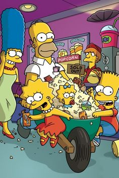 Simpsons visiting the cinema!