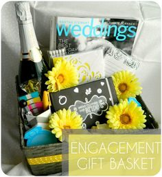 Looking for a cute engagement gift for a friend? Try this super easy DIY gift basket and customize it perfectly for her :)  Makeup-Bakeup.com