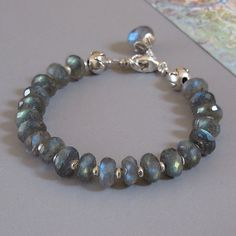 Labradorite Spectrolite Gemstone Sterling Silver Lotus by DJStrang, $68.00