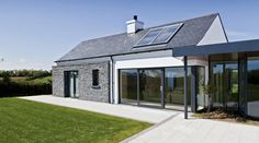 Drumlins Eco House, Co. Down — Paul McAlister Sustainable and Passive House Architects - Portadown, Belfast, Northern Ireland House Designs Ireland, Cool House Designs, Modern House Design, Passive House Design, Style At Home, Bungalow Haus Design, Bungalow Extensions, Bungalow Renovation, Long House